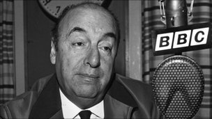 Pablo Neruda, seen here on a visit to the BBC's Latin American service in 1965, was fiercely critical of the military