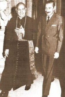 Pope Francis (left) with Jorge Videla, head of the rightwing fascist Argentine Junta, responsible for the death, disappearance and torture of tens of thousands of Argentines in its 'Dirty War'