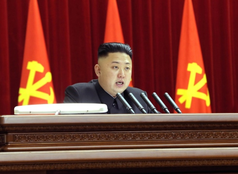 North Korean leader Kim Jong-Un attending the plenary meeting of the Central Committee of the Workers' Party of Korea in Pyongyang (AFP Photo / KCNA via KNS)