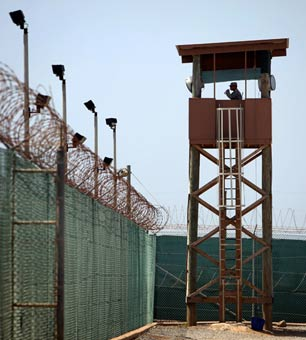 A guard tower overlooks the prison at Camp Delta in Guantanamo Bay, Cuba, on June 8, 2010. (Photo: Richard Perry / The New York Times)