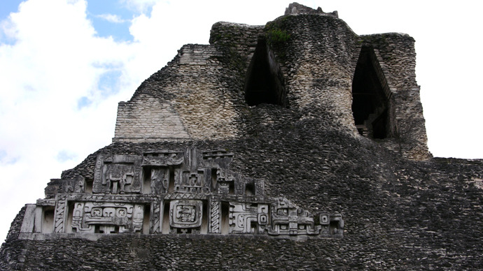 Mayan pyramid, Xunantunich, Belize. (Image from flickr.com / photo by Paul Huber)