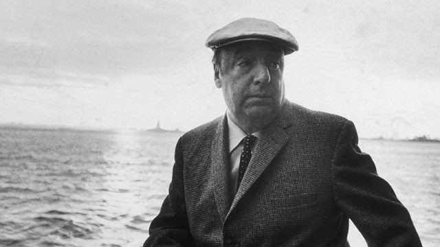 In this picture from 1966, Chilean poet Pablo Neruda leans on a boat during a controversial trip to New York City. An inquiry into the poet's death has stirred up emotions in Chile, pitting socialists who admired Neruda, against former supporters of the Pinochet regime. (Sam Falk/New York Times Co./Getty Images)