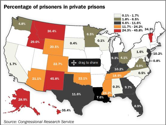private prisons map