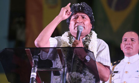 Bolivian President Evo Morales Threatens Closure of U.S. Embassy (Photo: Zuma/Rex)