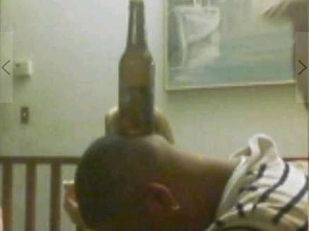 "Photo of George Zimmerman, titled ""Beer On My Head"" from his Myspace Page"