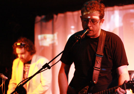 Dan Somers (right) performing at his band's CD Release Show (Phoenix New Times/Melissa Fossum)
