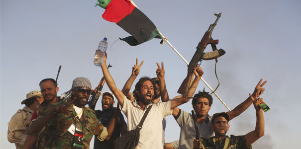 NATO-backed Libyan rebels overthrew Gaddafi in 2011
