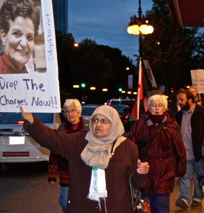Protest Attack on Rasmea Odeh (2)