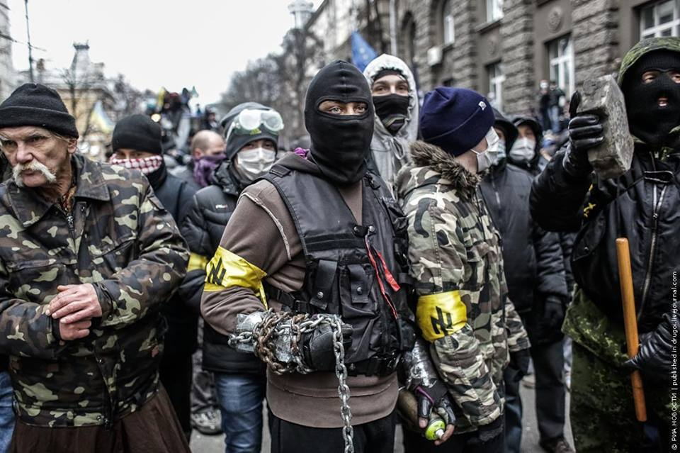Neo-Nazi thugs at the forefront of Ukrainian protests