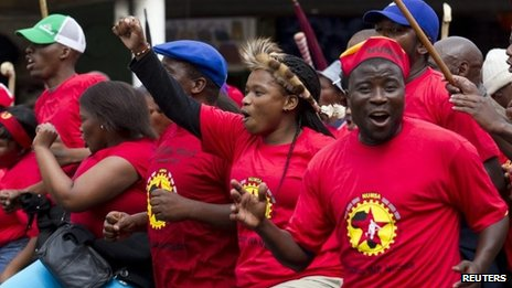 Like other unions, Numsa members went on strike earlier this year