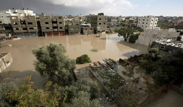 According to Israel's Yedioth Ahronoth newspaper, the rainfall led to a lot of excess water which couldn't drain away, so 'the Israeli authorities resorted to discharging the excess water into the Gaza Strip'