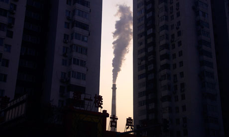 Oil, coal and gas companies are contributing to most carbon emissions, causing climate change and some are also funding denial campaigns. Photograph: David Gray/Reuters