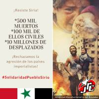Statement of the Revolutionary Youth of Ecuador:  Imperialism Sows Death in Syria.  Solidarity with the Syrian People!