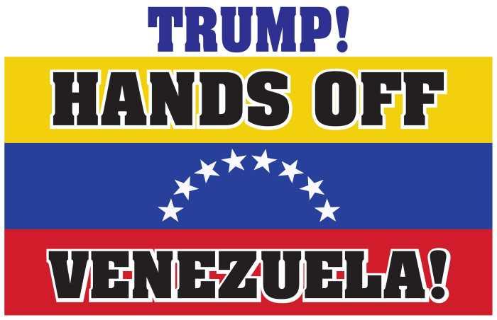 Image result for HAND OFF VENEZUELA CARTOON